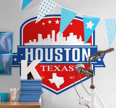Houston Skyline Wall Sticker