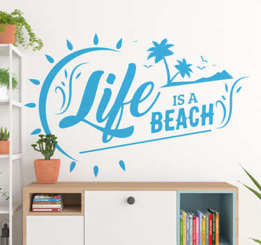 Life Is a Beach Text Sticker