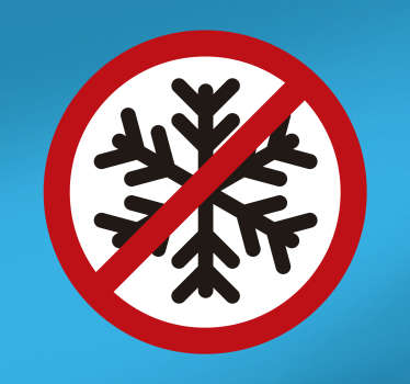 No Snowflakes Car Decal