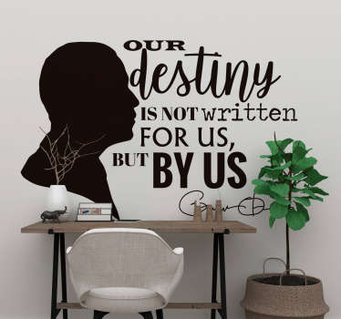 Our Destiny Obama Quote Sticker