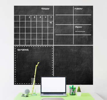借助这张精美的记事本黑板贴纸,您可以停止整理自己的生活和家里其他人的生活。提供全球送货!