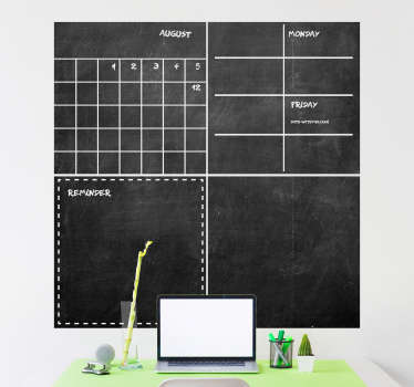 Krijtbord sticker kalender