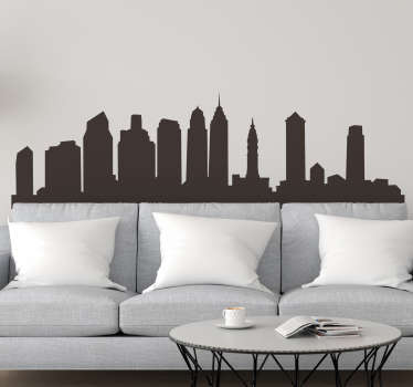 Philadelphia Skyline Wall Sticker