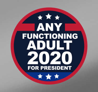 Any Functioning Adult Car Sticker