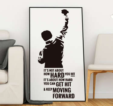 Keep Moving Forward Rocky Quote Sticker