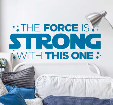 Raising a Jedi can be hard. So decorate their room with this amazing Star Wars quote sticker. Choose from over 50 colours!