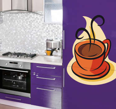 Naklejka rysunek filiżanka kawy