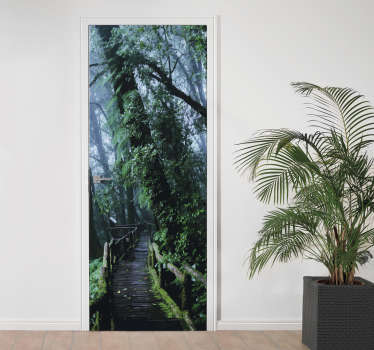 Rainforest door decal