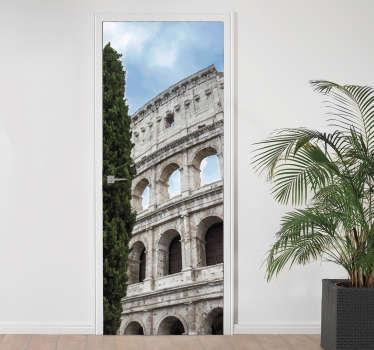 Adesivo per porta colosseo roma