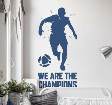 Adesivo murale we are the champions