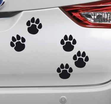 Have a furry friend? Love animals? Why not use these cute little paw print stickers to add an adorable little addition to your car?
