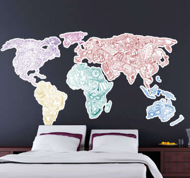 Travel World Map Wall Sticker