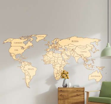 Start learning your countries with this amazing  political world map wall sticker. Free worldwide delivery available now!