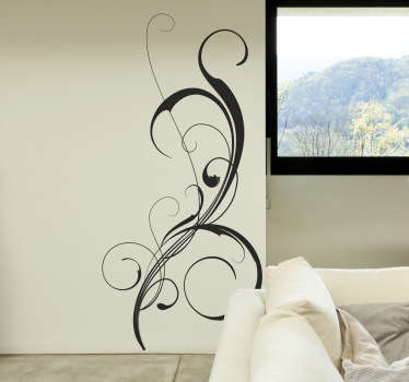 Elegant filigree sticker design for you home. Decorate your favourite space at home with this superb decal.