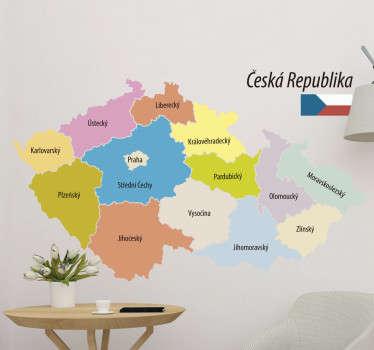 Nálepka české politické mapy