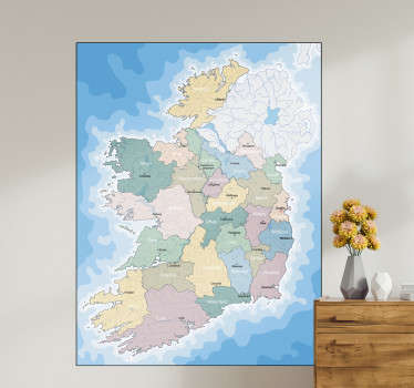 Ireland Political Map Wall Sticker