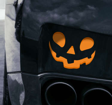 Sticker Halloween citrouille souriante