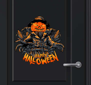 Now isn't this Halloween sticker a bit scary? It certainly scares us. Scare all your guests this season with this Halloween decal