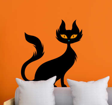 This halloween decal will be purrrfect to apply onto your walls for Halloween. This product is available in a variety of sizes. Easy to apply.