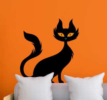 Unlucky black cat wall sticker