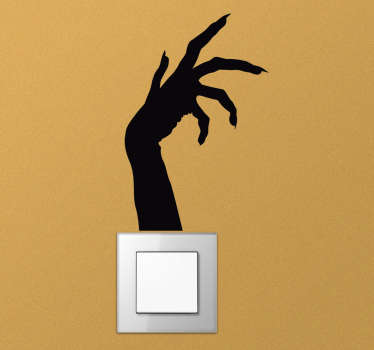 This creepy light switch sticker will lend you a hand in creating that scary atmosphere you want during the Halloween season! Easy application