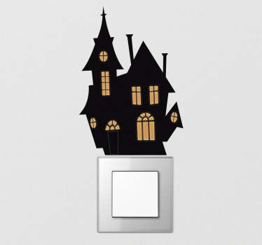 Haunted house light switch cover sticker