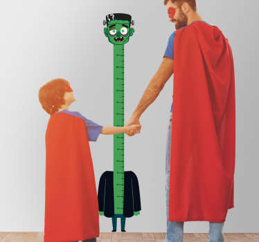 Halloween height chart wall sticker