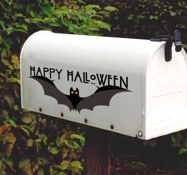 Happy Halloween bat halloween wall sticker