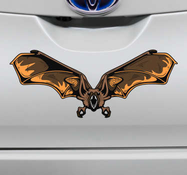 Bat halloween car sticker
