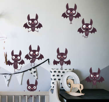 Halloween bats halloween wall sticker