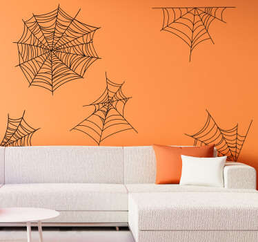 Cobwebs halloween wall sticker