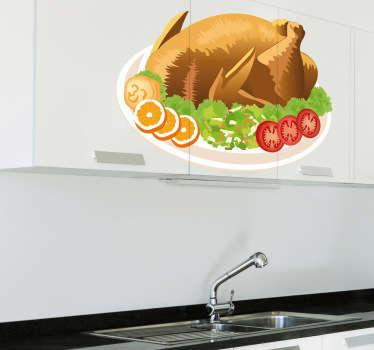 Sticker gebraden kip groenten