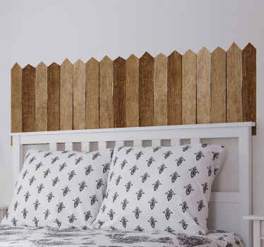 Beautiful and realistic wood texture headboard wall sticker. It is made of high quality vinyl and it application is easy.