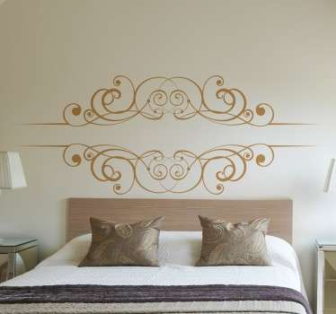 Sticker with a drawn filigree design for you home. Decorate your walls with an original decal.
