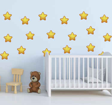 An amazing decoration geometric space stars decal to create a star gazing atmosphere in the space of a kid. It is easy to apply and of good quality.