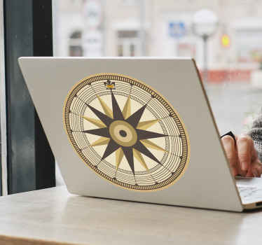 Beautiful wind rose ornamental laptop decal design to decorate any laptop.  This design is suitable for any one and it is easy to apply.