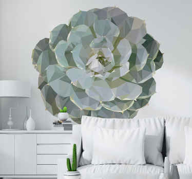 Flower wall art sticker design made with geometric textural appearance. It is ideal for a living room, very easy to apply and of high quality.