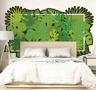 Bring that tropical feeling  and atmosphere to your space in our amazing and original peaceful wall sticker design of tropical leaves.