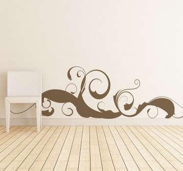 弯曲的笔画墙贴纸
