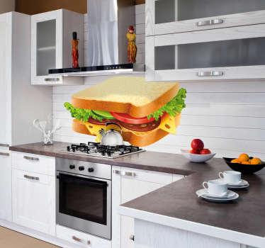 Aufkleber Sandwich Küche
