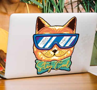 美しいグラフィックの外観でデザインされたクールな猫のラップトップステッカーでラップトップを飾りましょう。適用が簡単で、高品質のビニール製です。