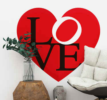 Decorate your home in the atmosphere of love in our decorative love wall art decal. The product is made of high quality and easy to apply.