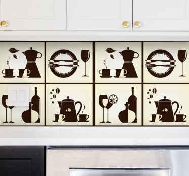Naklejka dekoracyjna różności w kuchni