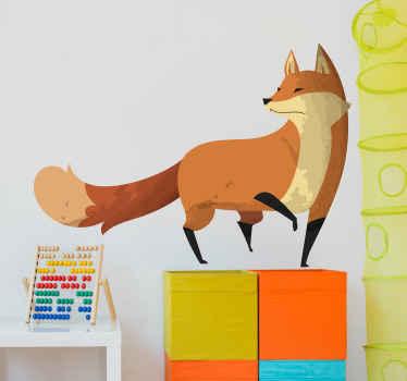 Hermoso vinilo animales infantiles con zorro curioso que será ideal para decorar el cuarto de tu hijo ¡Descuentos disponibles!