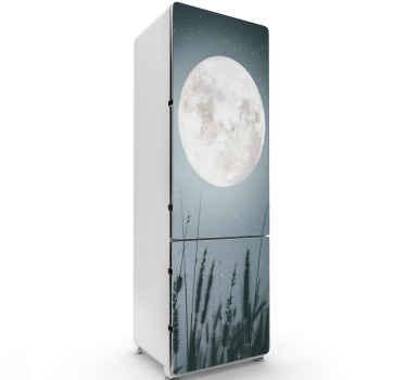 宇宙の月のデザインと装飾的な冷蔵庫のドアのステッカー。製品は適用が簡単で、高品質のビニール製です。