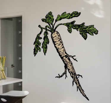 White Carrot Illustration Decal