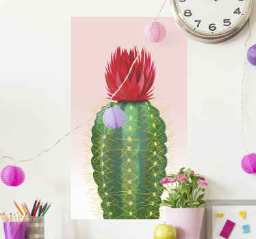 Amazing decorative cactus plant wall sticker with a realistic appearance. A lovely  natural decorative touch for any space.