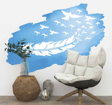 Decorative flying birds and leave wall sticker to decorate any space with the touch of nature. It is self adhesive and easy to apply.