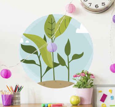 自然のタッチを作成するためにあなたのスペースを飾るために装飾的な花植物壁ステッカー。自己接着性とオリジナルデザインの商品。