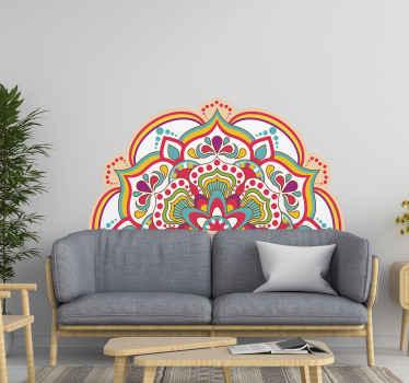 市場で最高品質の素材から作られたマンダラ装飾用花ビニールステッカー。適用が簡単で、品質が優れています。